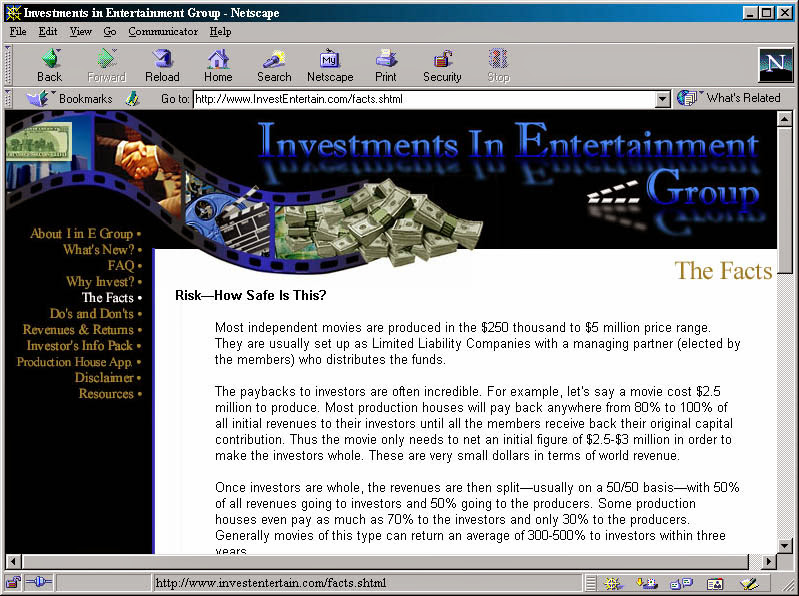 investments in entertainment group